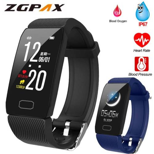 Fitness Tracker Smart Watch Blood Pressure Waterproof Weather Display Wrist Watches cb5feb1b7314637725a2e7: Add 4 color straps|Add a blue strap|Add a gray strap|Add a purple strap|Add a red strap|Black|Blue|gray|Purple|Red