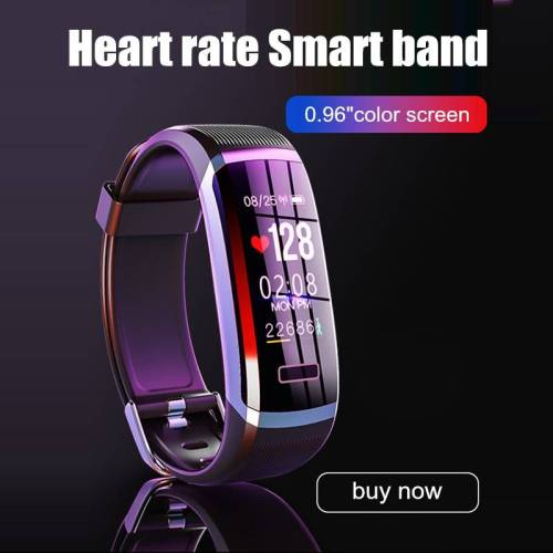 Smart Bracelet Band With real-time Heart rate Monitor pulse Fitness Tracker Wrist Watches cb5feb1b7314637725a2e7: Grey Black|Pink|silver black|silver blue|silver red|WHITE