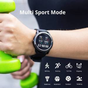 Waterproof Smart Watch Heart Rate Monitor – Fitness Tracker For Android & IOS Wrist Watches cb5feb1b7314637725a2e7: Black Blue