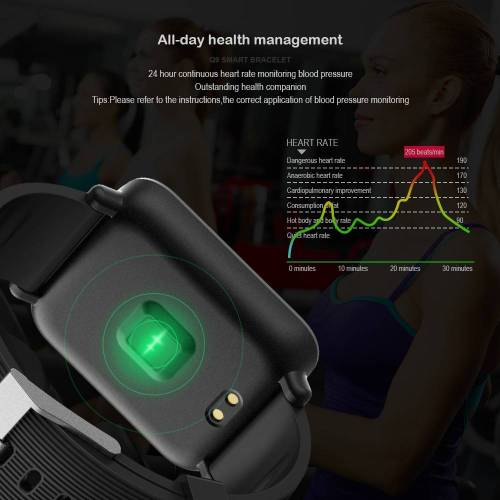 Blood Pressure Heart Rate Monitor Smart Watch IP67 Waterproof Sport Fitness Tracker Wrist Watches cb5feb1b7314637725a2e7: Black|Blue|Brown|Purple|Red