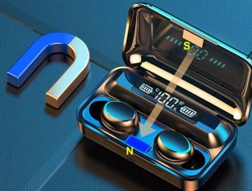 Trendy Waterproof Wireless Bluetooth Earphones cb5feb1b7314637725a2e7: Blue|grey|WHITE|Without Box