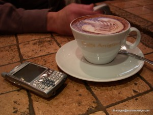 Coffee and gadgets