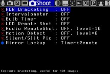 MagicLantern HDR menu