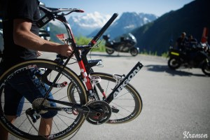 What's left of Shane 'The Mullet' Archbold's (AUS/Bora-Argon18) bike after a crash earlier in the race stage 17: Bern (SUI) - Finhaut-Emosson (SUI) 184.5km 103rd Tour de France 2016