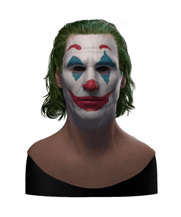 Hyper Realistic Heath Ledger Joker Silicone Mask for Halloween With Hair