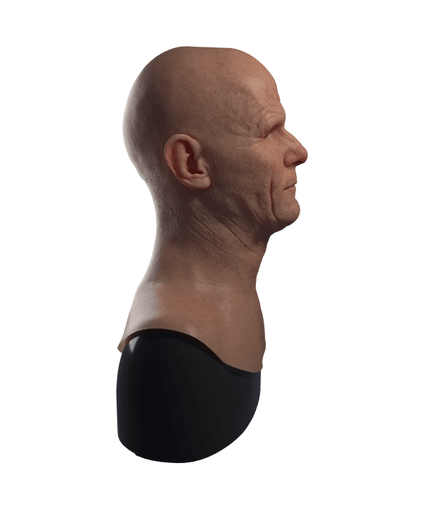 Hyper Realistic Walter White Breaking Bad Silicone Mask for Disguise Right Profile View