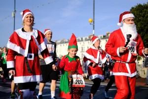 People dressed like Santa