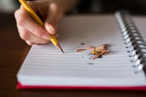 writing into a notebook