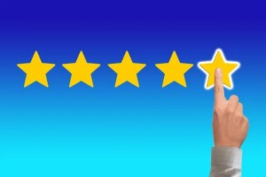 Leaving a good moving review - five stars