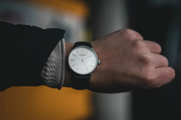 Looking at a watch