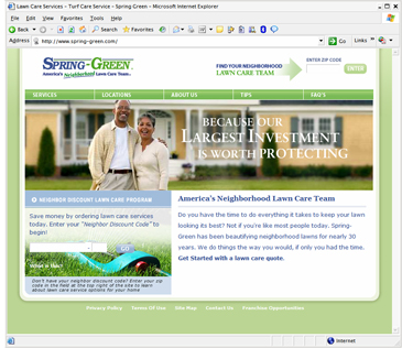 Spring Green Lawn Care (content management system / ecommerce)