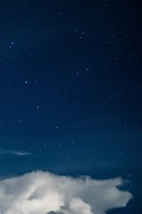 starry sky with cloud