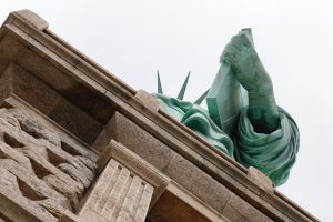 statue of liberty from below base