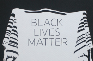 BLM tallit papercut by Aaron Hodge Silver Greenberg