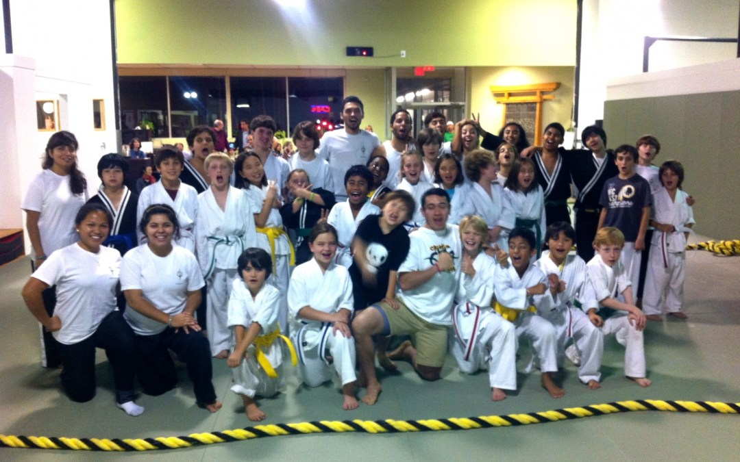 First Martial Arts Tricking class at Evolve All