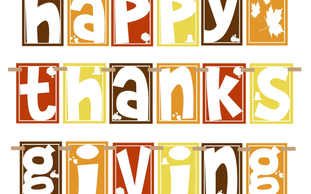 THANKSGIVING HOLIDAY ADULT/FAMILY CLASS SCHEDULE