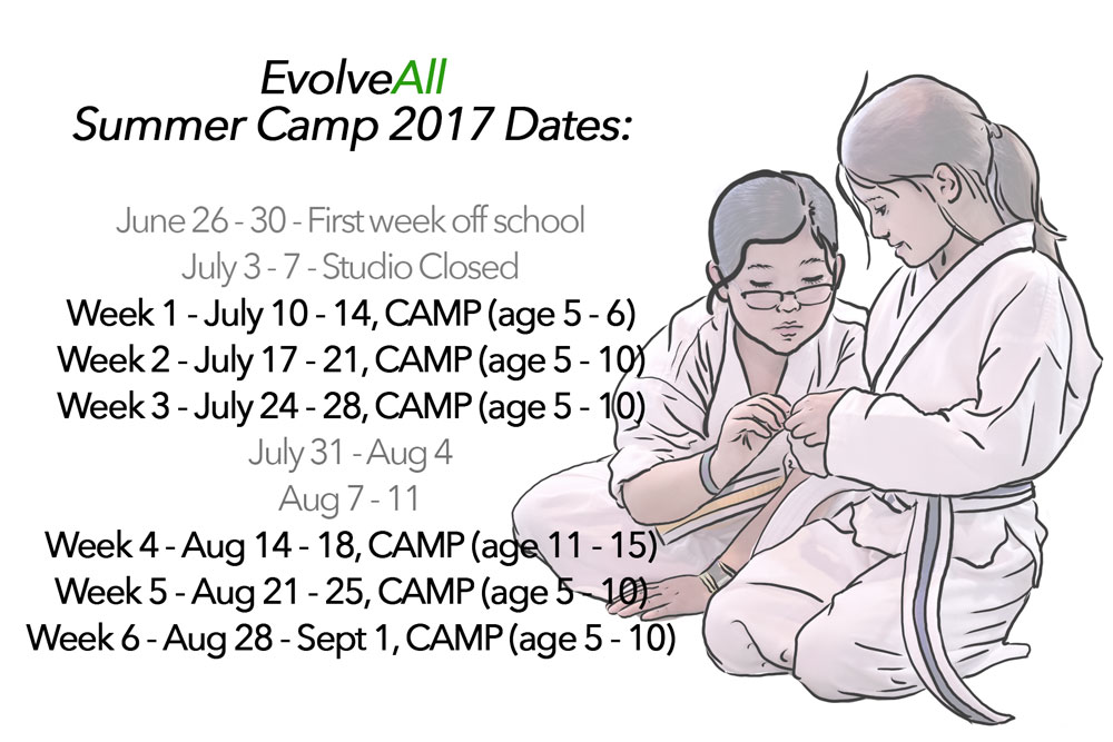 2017 Summer Camp Dates! Registration OPEN.