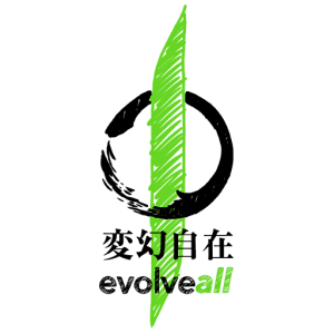 evolveall 2 symbol and text black