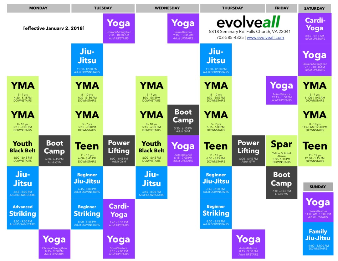 EA Schedule V 5 - EvolveAll - Training Arts Center, VA