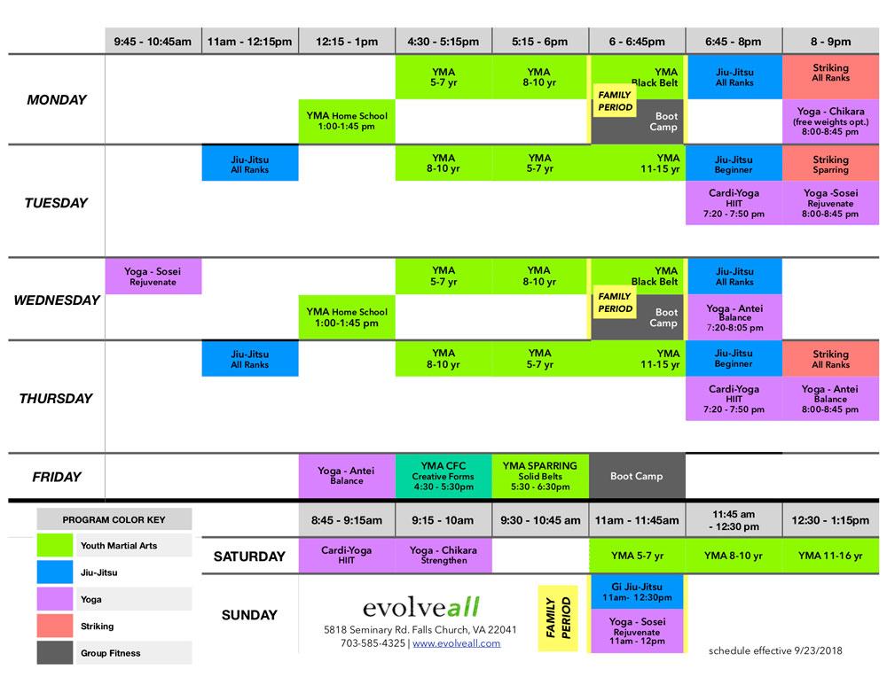 EA Schedule V.7.8 - Lesson Schedule