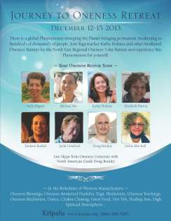 Journey To Oneness Retreat at Kripalu in December