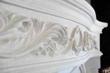 Custom stone fireplace surround