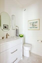 Guest bath, white cabinets, Cambria countertops