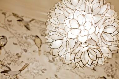 Powder room, JF Wallpaper, pendant light