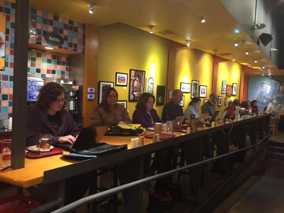 Nanowrimo at Flying Star Cafe