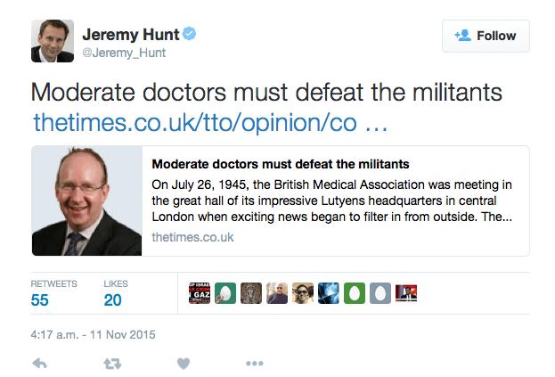 EvolvePolitics.com   Jeremy Hunt - Militants