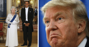 Trump Obama Queen State Visit