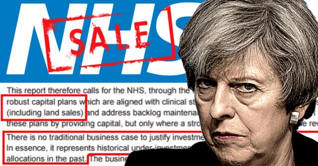 Theresa May Naylor Report Asset Stripping NHS
