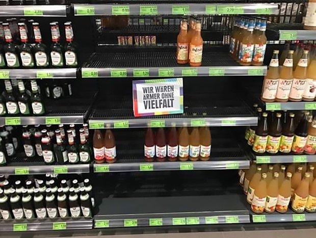 Edeka Anti-Racist Shelves