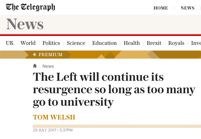 The Telegraph Basically Say The Right Wing Are Stupid