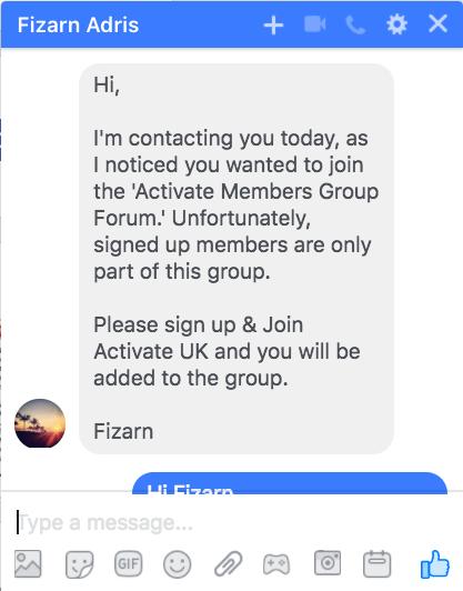 Fizarn Adris Activate Membership Chat 1