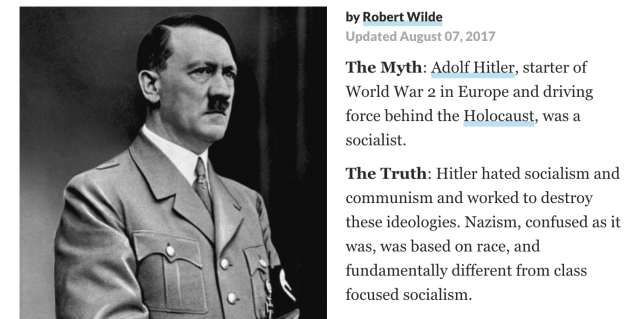 Was Hitler a Socialist