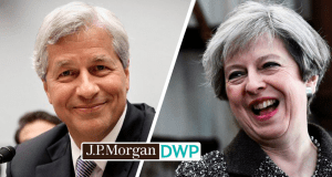 J P Morgan DWP Theresa May