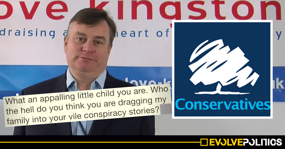 Tory labels 17 year-old sixth-former 'vile' 'appalling little child' for unearthing potential 'conflict of interest'