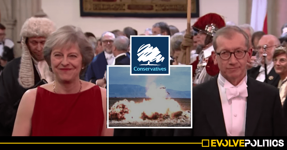 Theresa May's husband's Investment Firm made a financial killing from the bombing of Syria