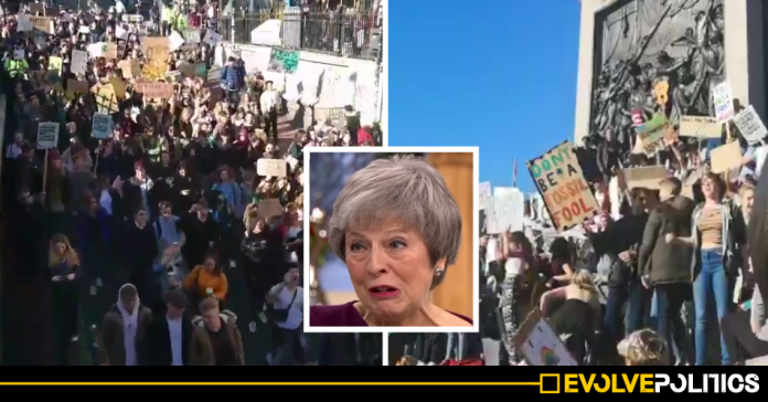 WATCH: Thousands of kids protesting Climate Change chant