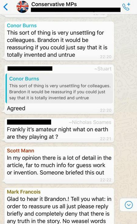 Leaked Messages Mark Francois