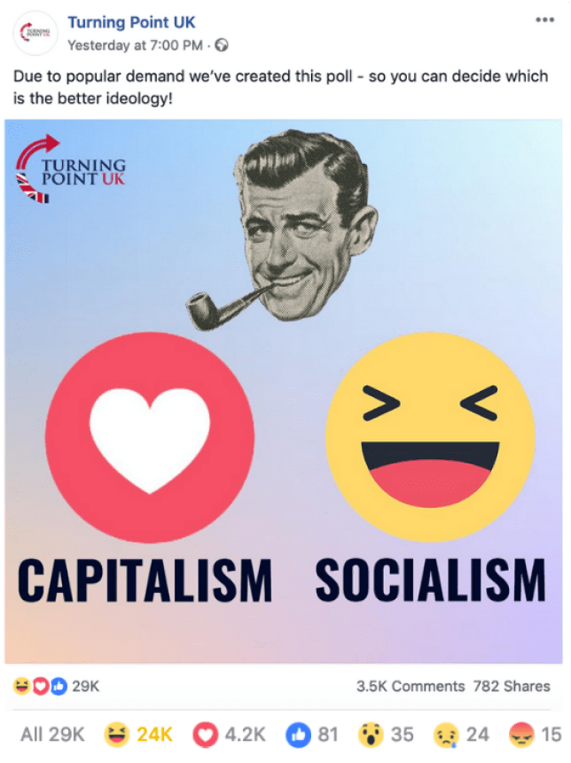 Turning Point UK Capitalism Socialism Poll