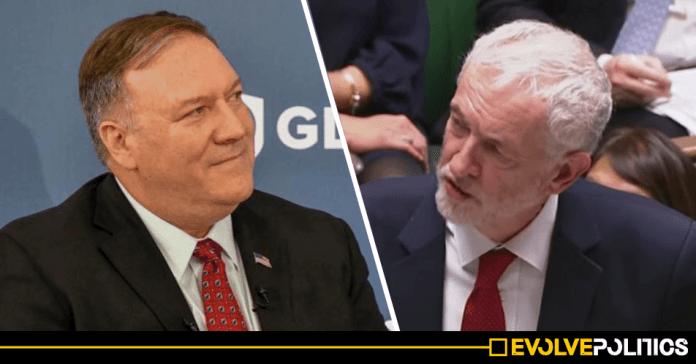 Trump's Secretary of State says US will intervene to stop Corbyn becoming UK Prime Minister, leaked tape reveals