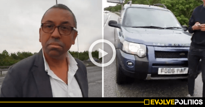 Tory Party Chairman James Cleverly accused of causing M11 crash whilst