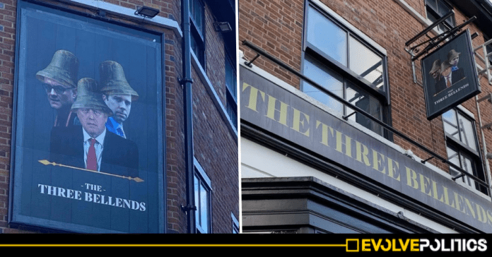 """Liverpool pub sparks hilarity after installing anti-Tory sign and rebranding as """"The Three Bellends"""""""
