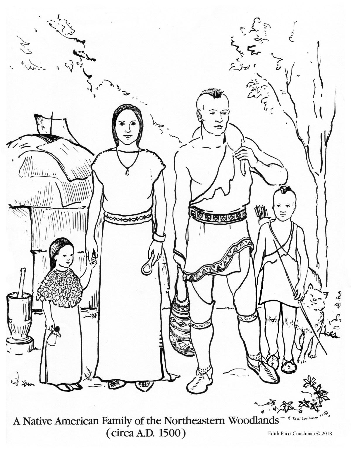 Native American Family 1500