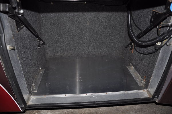 Reinforced the tool box bay floor to support the additional weight of tool box before living full time RV adventure.
