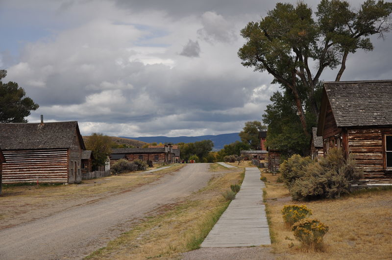 Looking down the main street in the ghost town of Bannack, Montana while living in our RV full time traveling the country.
