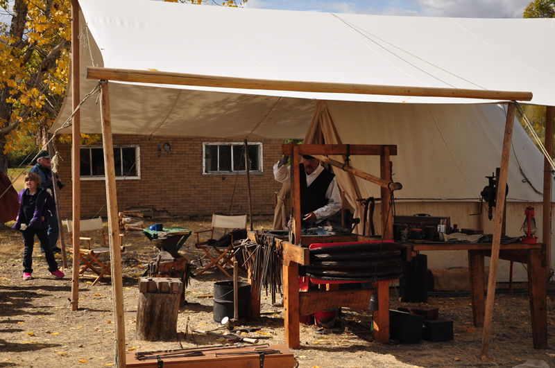 A blacksmith working in the ghost town of Bannack, Montana as we were touring the country in our RV.
