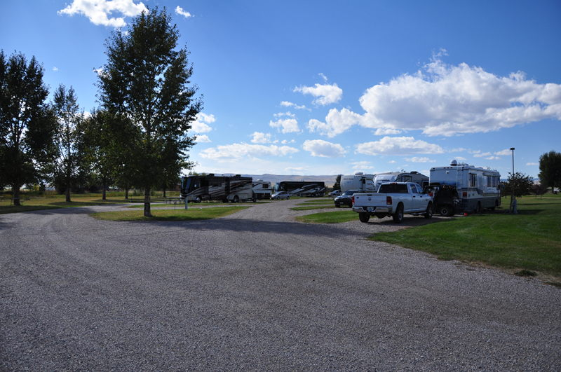 Another view of Countryside RV park in Dillon Montana as we travel the West Coast full time in our RV.